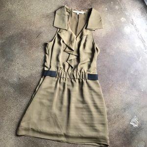 Rachel Roy Olive Green sleeveless dress